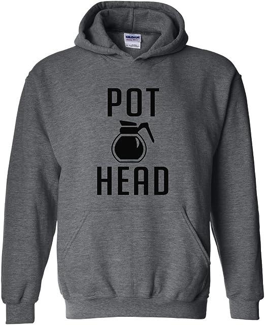 Zip Up Hoodie Coffee Pot Head Funny Hooded Sweatshirt for Men 3XL Gray