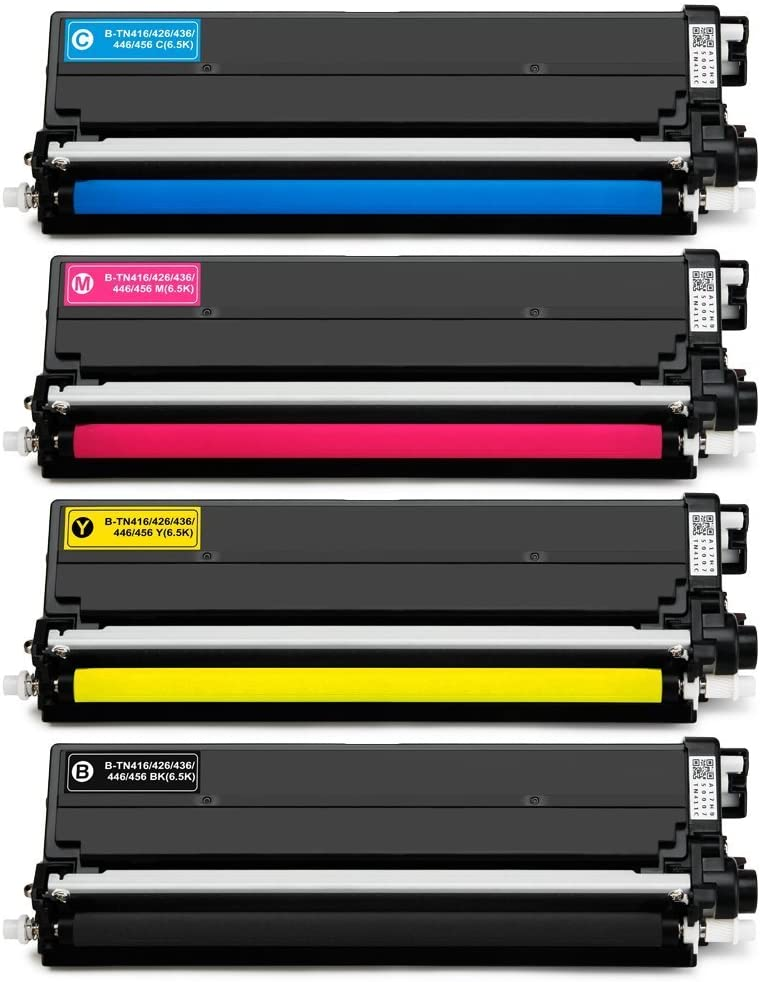 6-Pack 3BK+C+M+Y Cartridge TN431BK,TN431C,TN431M,TN431Y Toner Cartridge Replacement for Brother HL-L8260CDW L8360CDW L9310CDW L9310CDWTT DCP-L8410CDW MFC-L8610CDW L8900CDW L8690CDW L9570CDW Printer