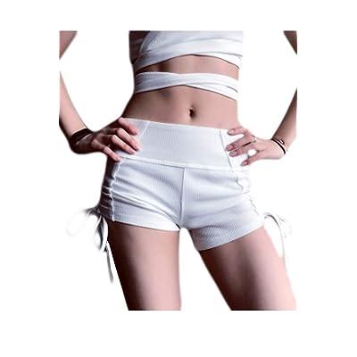 Adelina Las Mujeres Empujan Arriba Pantalones Yoga Ribber hacia Cortos De Moda Completi Punto Pantalones Cortos para Mujer Casual Moda Joven Loose Short Summer Short Pant: Ropa y accesorios
