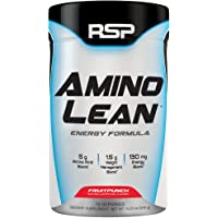 RSP AminoLean - All-in-One Pre Workout, Amino Energy, Weight Loss Supplement with Amino Acids, Complete Preworkout Energy & Natural Fat Burner for Men & Women, Fruit Punch, 70 Servings