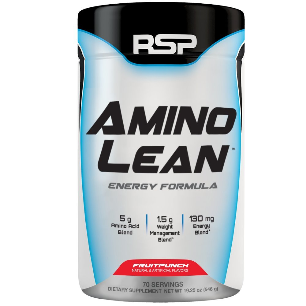 RSP AminoLean - All-in-One Pre Workout, Amino Energy, Weight Management Supplement with Amino Acids, Complete Preworkout Energy & Natural Weight Management for Men & Women, Fruit Punch, 70 Serv