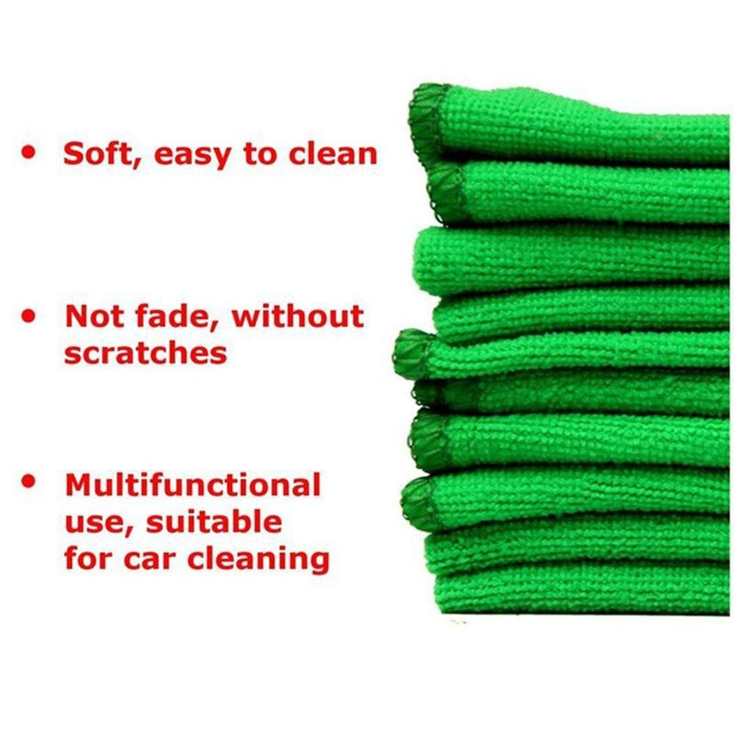 Banlany 5 Pieces Microfiber Cloth Cleaning Towels for Fine Auto Finishes Interior Kitchen Bathroom Paper Towels