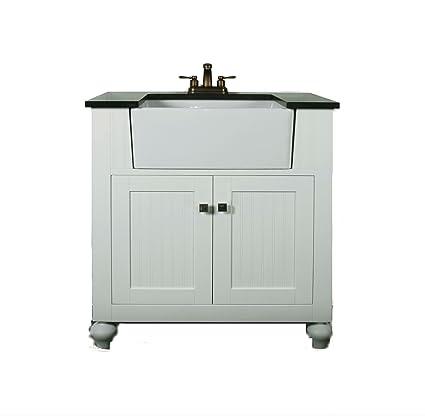 Legion Furniture Wlf6022 W 30 Matt Farm Sink With Backsplash Without Faucet White Finish