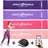 sport2people Exercise Resistance Loop Bands for Booty Building with 2 Workout E-Books for Strength Training and Physical Therapy - Fitness Loops for Hips and Leg