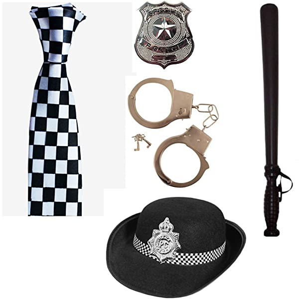 Adults Police Officer Fancy Dress Accessory Mens Ladies PC Cop Hat Truncheon