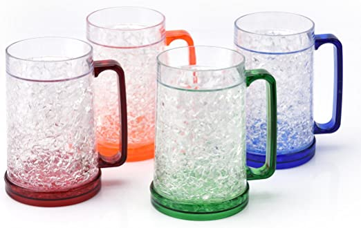 Beers To You Dad Father/'s Day Freezer Beer Tankard Plastic Ice Cold Summer Glass
