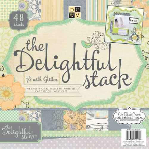 Die Cuts With A View 48-Sheet Premium Stack, 12-inches by 12-inches, Delightful