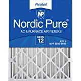 Nordic Pure 16x25x4 MERV 12 Pleated AC Furnace Air Filters 2 Pack