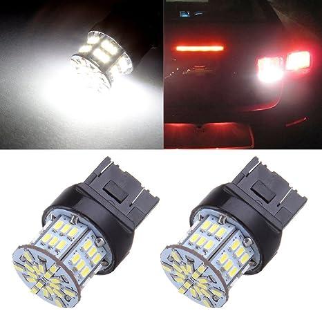 cciyu 2pcs Blanco 7443 de alta potencia Epistar 54SMD 3014 LED bombillas T20 7440 7444 7441