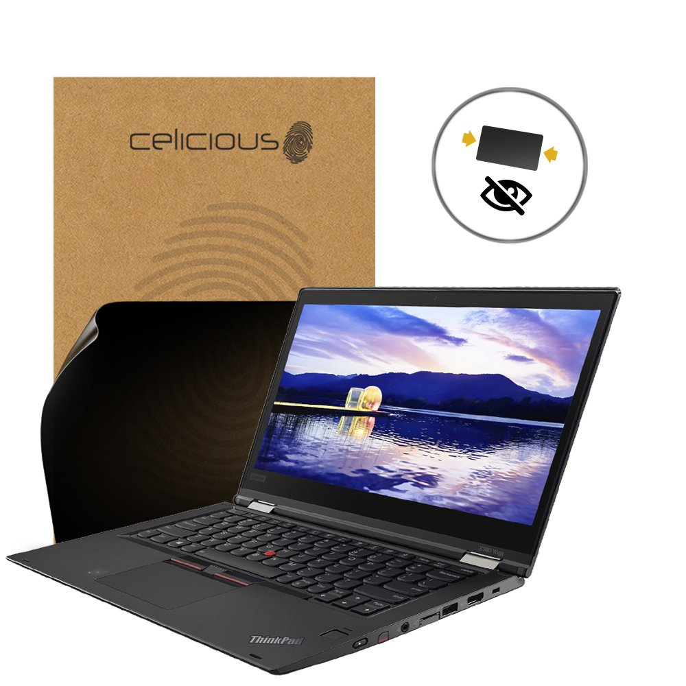 Celicious Privacy 2-Way Anti-Spy Filter Screen Protector Film Compatible with Lenovo ThinkPad X380 Yoga