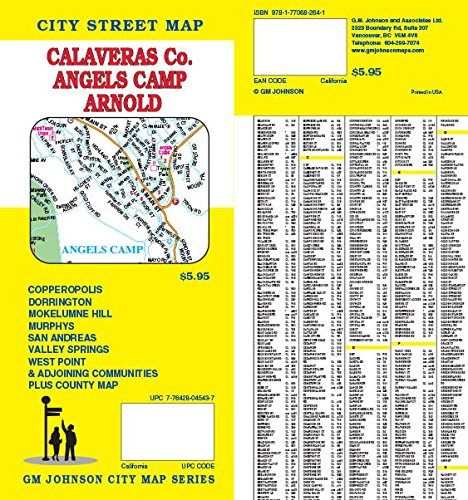 Calaveras County / Angels Camp CA Street Map pdf epub
