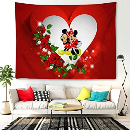 Amazon.com: DISNEY COLLECTION Tapestry Mickey Mouse in Red ...