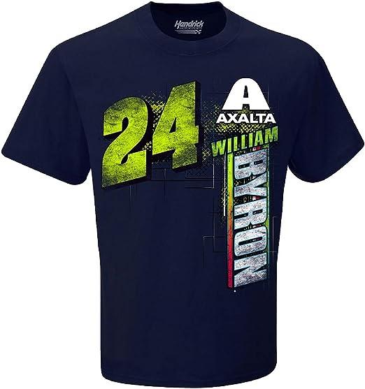 2019 WILLIAM BYRON #24 AXALTA NASCAR SCHEDULE SHORT SLEEVE TEE SHIRT