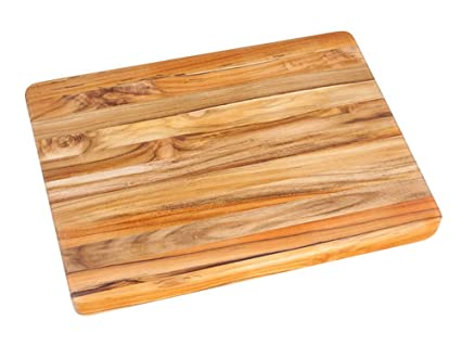 amazon com teak cutting board rectangle carving board with hand