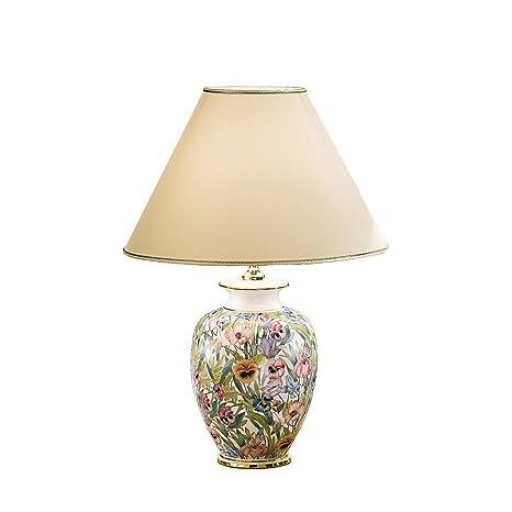 Lampadario Ceramica Di Caltagirone.Austro Lux 0014 74 A Lampada Da Tavolo In Ceramica 24 Carati Oro