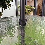 QIQIHOME Umbrella Cone Umbrella Wedge Parasol Base Stand Patio Table Hole Ring Plug (Black) (Black)