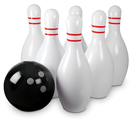 Amazon.com: Pelota hinchable de Bowling Game Set – 25 ...