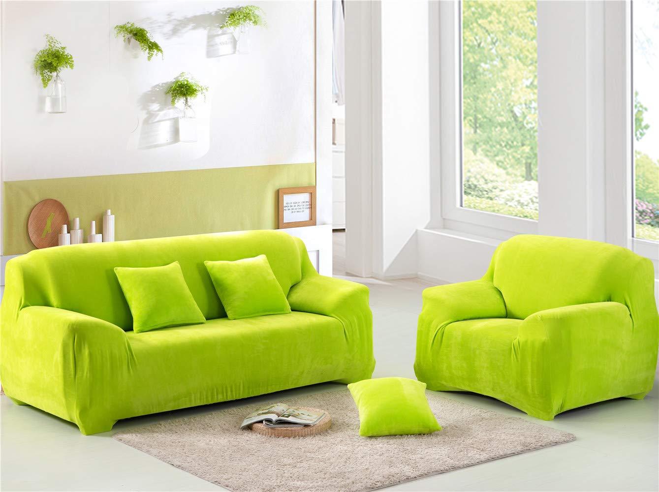EXQUILEG Dicke Elastischer Sofabezug 1 2 3 4-Sitz-Überwurf aus aus aus SAMT Größen (Silbergrau, 4 Seater 235-300cm) B07K1X1CYH Sofa-überwürfe 4116e8