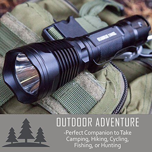 Supernova Guardian 1300XL Professional Series Ultra Bright Rechargeable Tactical LED Flashlight with Remote Pressure Switch and BrightStart Technology by Supernova (Image #5)