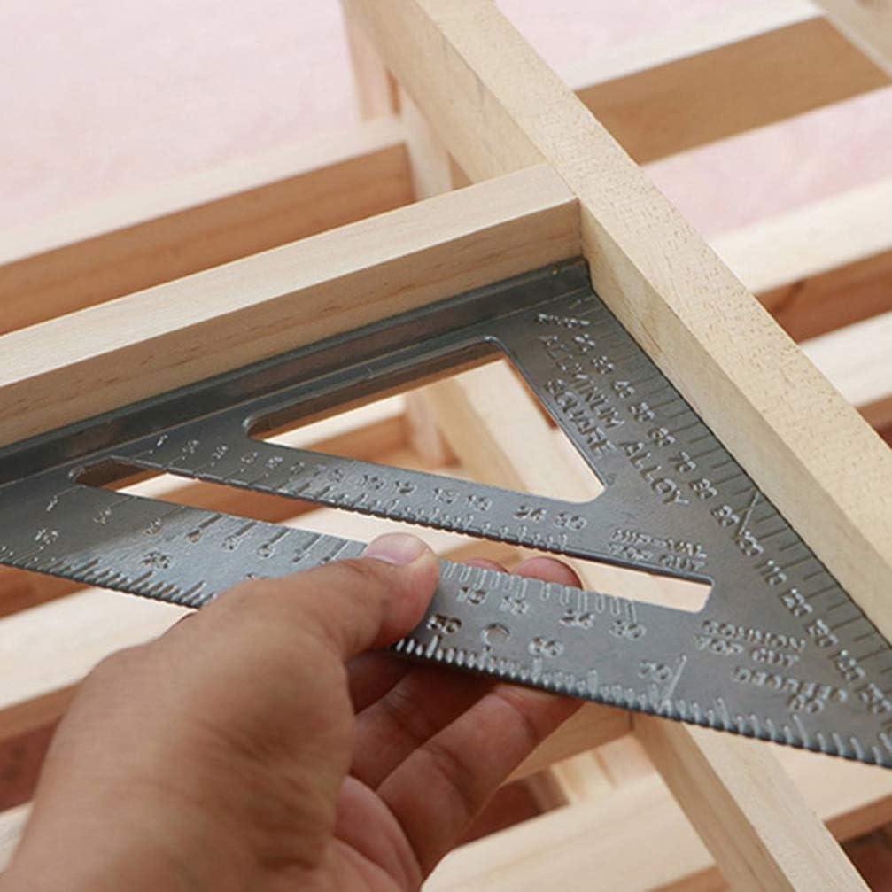 Toyvian Carpenter Triangle Ruler Metal Ruler Carpenter Square Woodworking Tools Framing Square Carpenter Tool Carpentry Combination Square