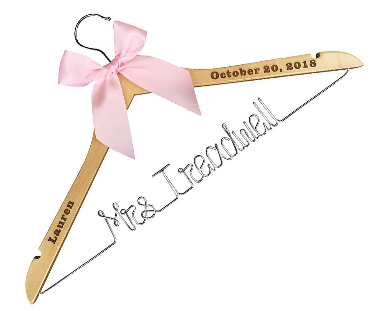 Personalisierte Hochzeit Kleiderbügel, mit der folower ...