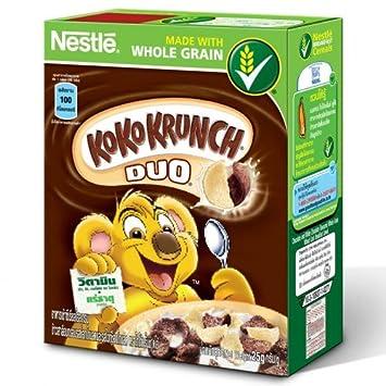Amazon nestle koko krunch duo breakfast cereal chocolate and nestle koko krunch duo breakfast cereal chocolate and white chocolate flavoured 25g ccuart Choice Image