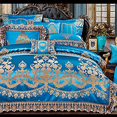 European Luxury Home Textile Bed Cover Type Bedding 10 Piece Set A Queen2