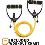 JoyFit - Adjustable Resistance Tube, Toning Tube for Exercise, Workouts, Fitness, Physical Therapy for Men and Women with Exercise Guide