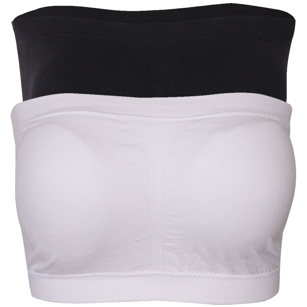 DD DEMOISELLE Strapless Sports Bra, Plus Size Padded Tube Top Strapless Bandeau Bra Seamless Bras for Women