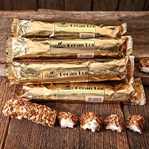 Pecan Log (Pecan Log Rolls - #1 Ingredient Georgia Pecans! (6 Individually Wrapped 4 oz Pecan Logs))