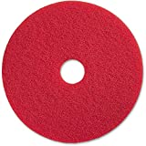 Genuine Joe 90417 Red Buffing Floor Pad  (17-inch, 5/Carton)