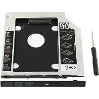 YOMYM Universal 9.5mm SATA to SATA 2nd SSD HDD Hard Drive Caddy Adapter Tray Enclosures for DELL HP Lenovo ThinkPad ACER Gateway ASUS Sony Samsung MSI Laptop