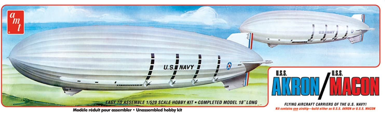US Navy Airship USS Akron Macon Luftschiff 1:520 AMT Model Kit AMT892 Zeppelin