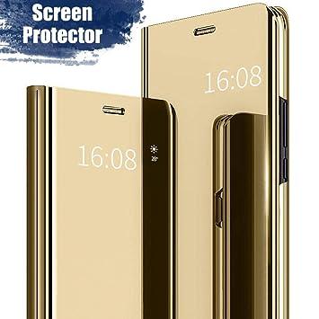 MadBee Funda Xiaomi Redmi Note 4A [Protector Pantalla], Fundas de Espejo Elegante Brillante Standing Flip Carcasa Cover Carcasa Funda Case para Xiaomi ...