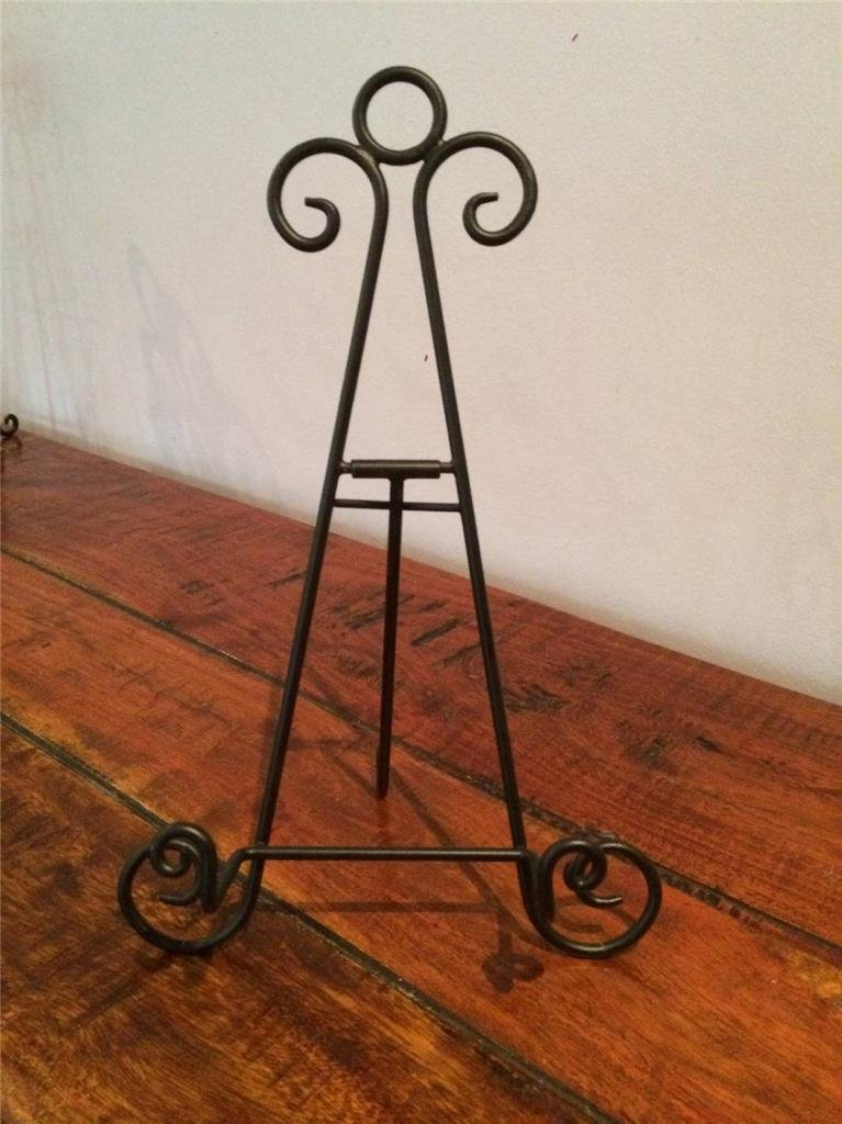 Black Iron Easel 8 inch Holder Display Artwork Picture Canvas Menu Book Plate Stand AA-17 Chattels