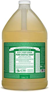 product image for Dr. Bronner's - Pure-Castile Liquid Soap (Almond, 1 Gallon) - Made with Organic Oils, 18-in-1 Uses: Face, Body, Hair, Laundry, Pets and Dishes, Concentrated, Vegan, Non-GMO
