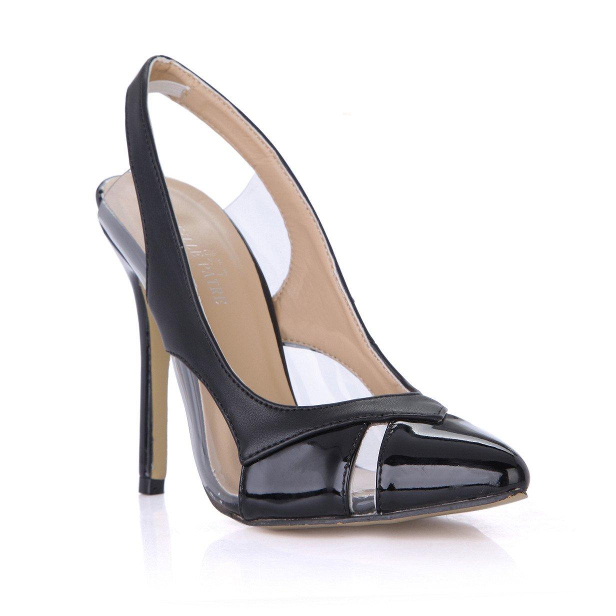 Noir Les femmes célibataires de nouveaux produits dans les réunions annuelles de la chaussures à haut talon après un grand vide point noir chaussures femmes US9   EU40   UK7   CN41