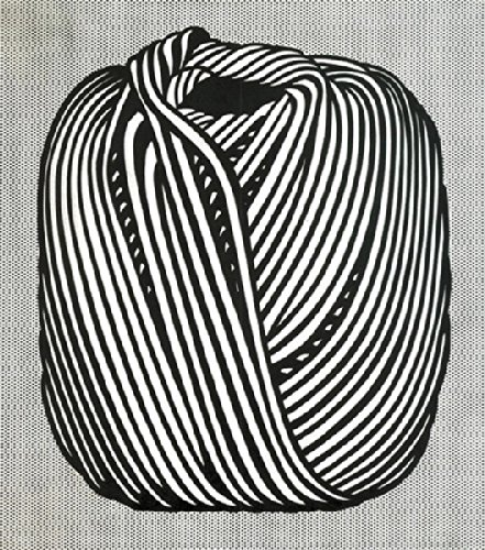 Ball of Twine 1963 serigraph Roy Lichtenstein Black White Objects Household Items Print Poster 11x14