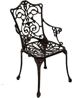 Eisenstuhl Punjab im Landhausstil robust /& langlebig Metallstuhl Gartenstuhl