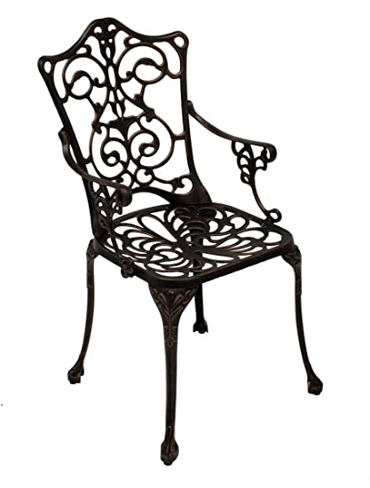 Garten Stuhl Jugendstil Metallstuhl Weiss Eisenstuhl Klappstuhl Küchenstuhl
