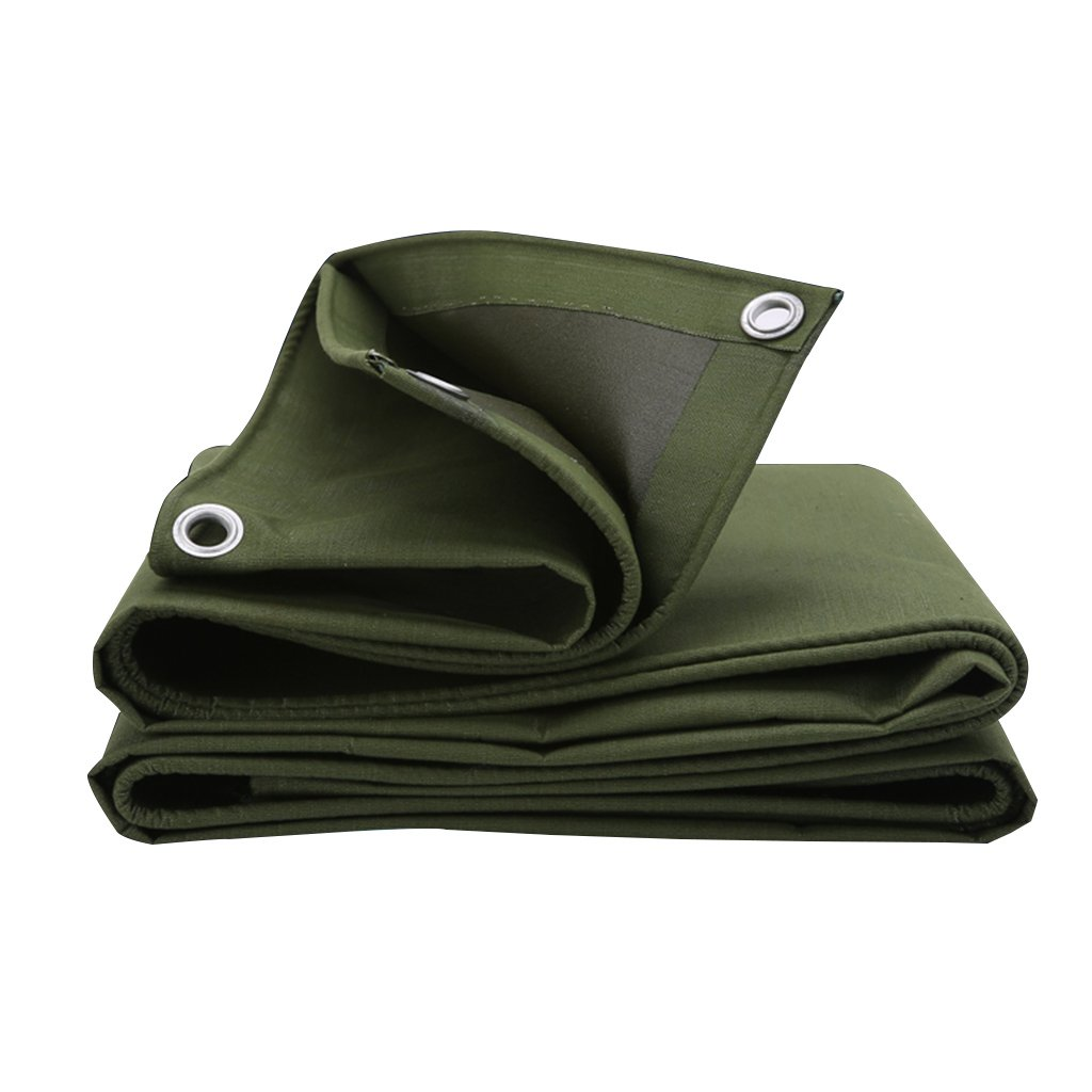 ターポリンヘビーデューティー防水、庭、屋外、キャンプテント、大規模機器、ピックアップトラック、マルチサイズに適したミシン目のタパスリンのキャンバス (色 : Green, サイズ さいず : 8m*10m) B07FS9N4L7  Green 8m*10m