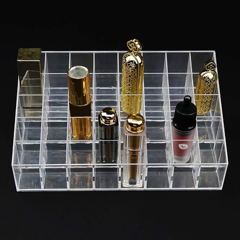 Mengonee 40 Rejillas de acr/ílico Maquillaje cosm/ético del l/ápiz Labial Caja de Almacenamiento Caja de la joyer/ía del sostenedor del Estante de Soporte del Brillo de Labios Organizador