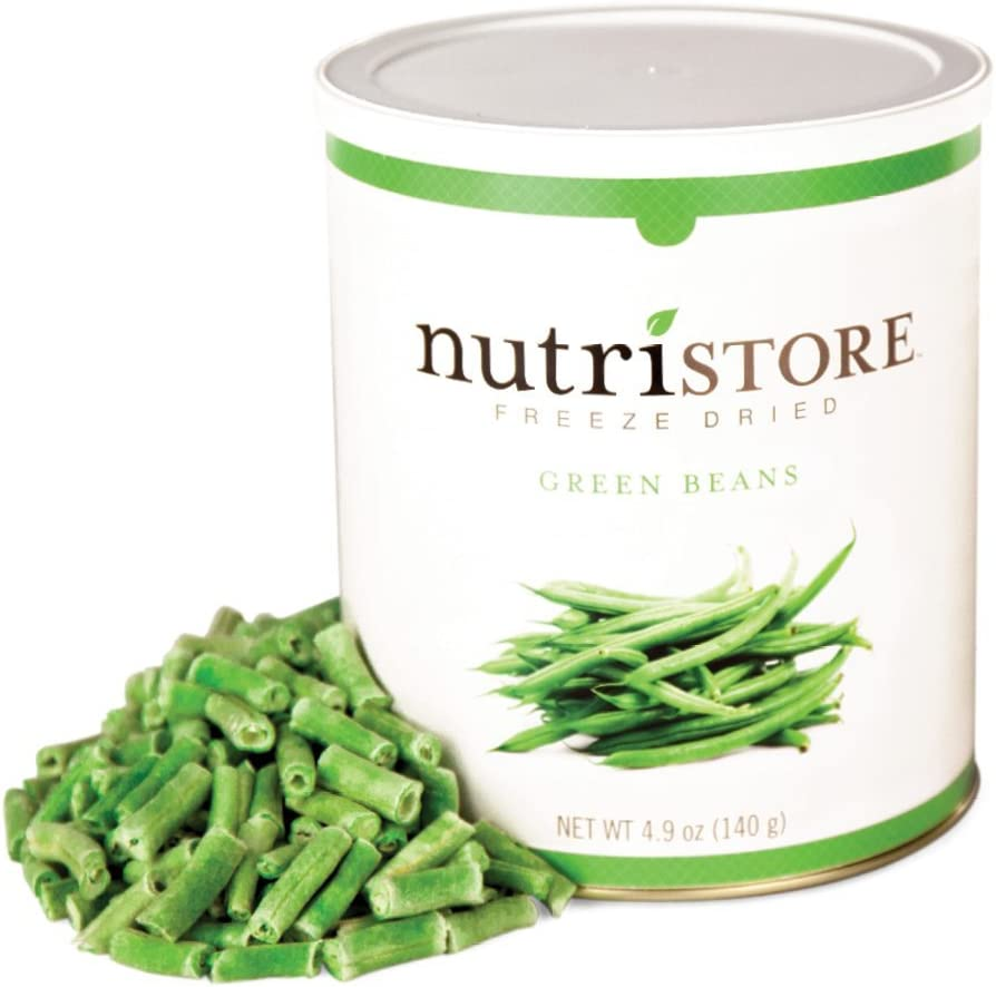 Nutristore Freeze Dried Green Beans | Perfect Healthy Snack | Emergency Survival Bulk Food Storage | Amazing Taste & Quality | 25 Year Shelf Life