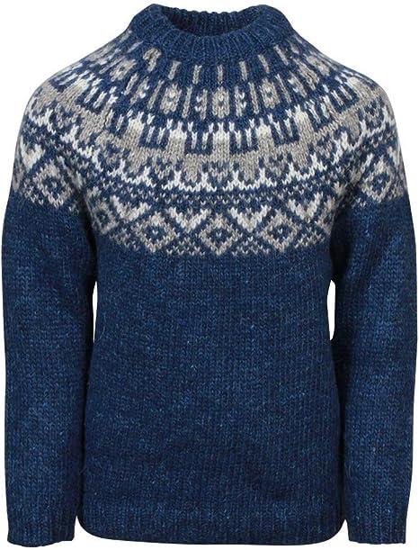 100/% Icelandic Wool Long Sleeve Crew Neck Winters Jumper Without Zipper ICEWEAR Snorri Mens Hand Knitted Wool Sweater
