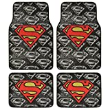 Superman Super Hero Carpet Floor Mats  4 Piece Warner Brothers Licensed Products