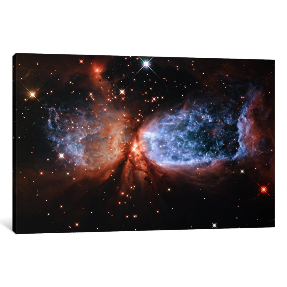 iCanvasART 1-Piece Celestial Snow Angel S106 Nebula 'Hubble Space Telescope' Canvas Print by NASA, 0.75 x 40 x 26-Inch by iCanvasART