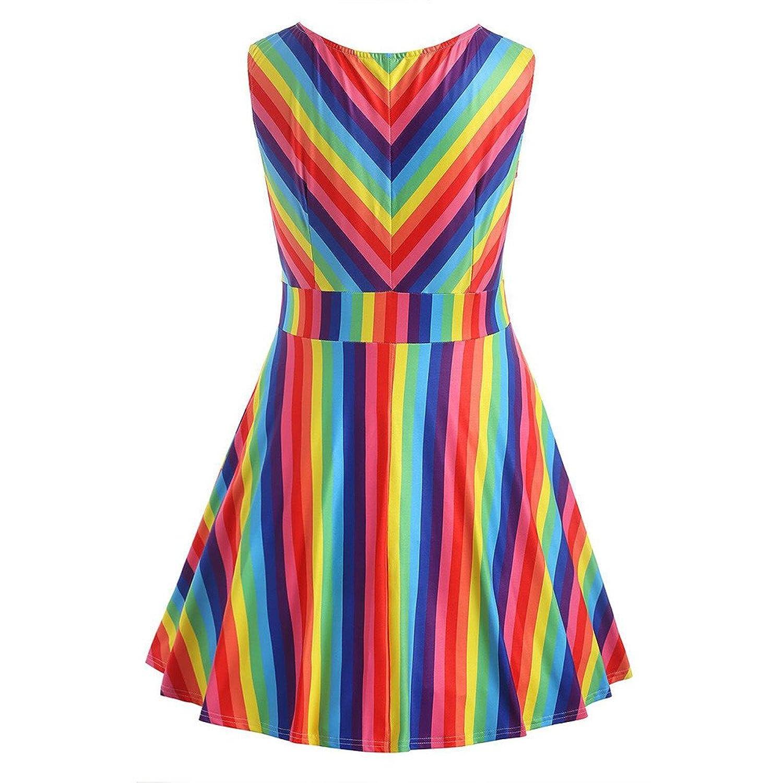 Kleid Damen Sommer, Ulanda Frauen Teenager Mädchen Vintage ...