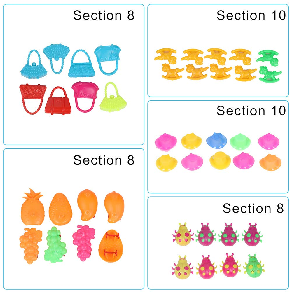 Carnival Prizes Kids birthday party favors 162pc prize box toys for classroom