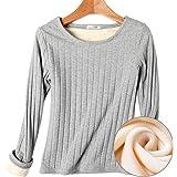18秋冬新款加绒加厚打底衫t恤女装纯棉大码圆领长袖保暖上衣绒衫