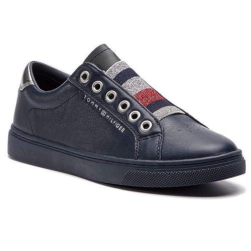 e3103d6a709 TOMMY HILFIGER FW0FW03707 Zapatillas DE Deporte Mujer Midnight 38   Amazon.es  Zapatos y complementos